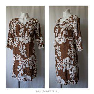 Boden ▪ Lightweight Floral Linen Tunic Dress